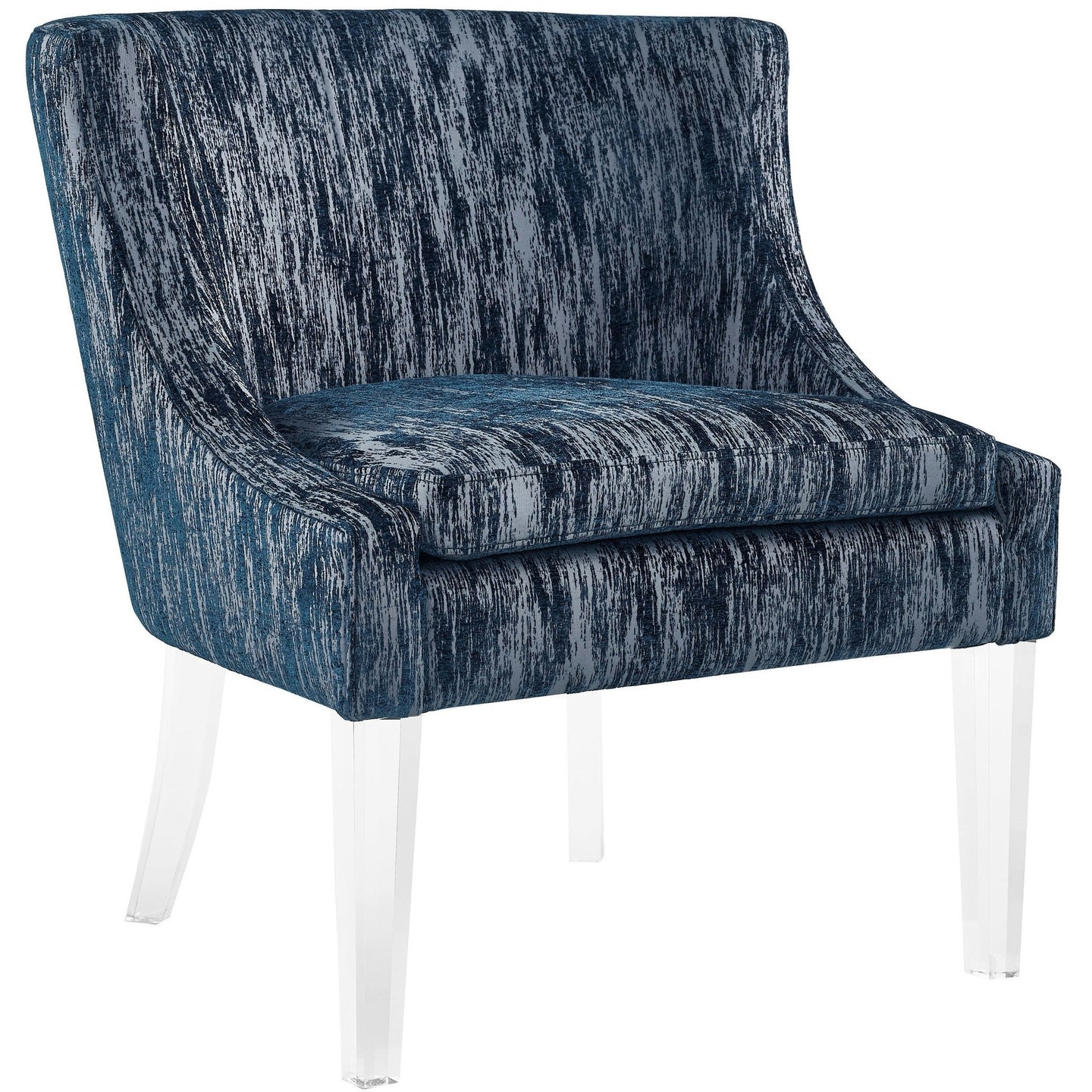 TOV Furniture Modern Myra Blue Textured Velvet Chair TOV-A113-Minimal & Modern