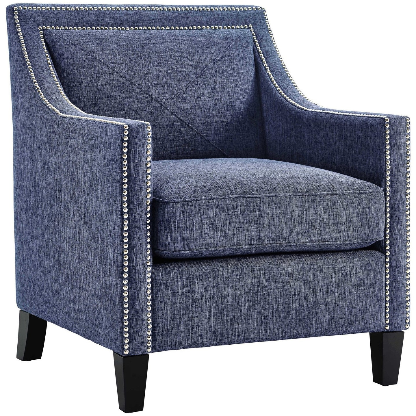 TOV Furniture Modern Asheville Blue Linen Chair TOV-A121-Minimal & Modern