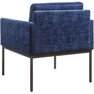 TOV Furniture Modern Canton Navy Velvet Chair - TOV-A183-Minimal & Modern