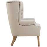 TOV Furniture Modern Abe Beige Linen Wing Chair , Armchair - TOV Furniture, Minimal & Modern - 5