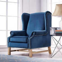 TOV Furniture Modern Nora Navy Velvet Chair TOV-A2042-Minimal & Modern