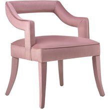 TOV Furniture Modern Tiffany Pink Slub Velvet Chair - TOV-A211-Minimal & Modern