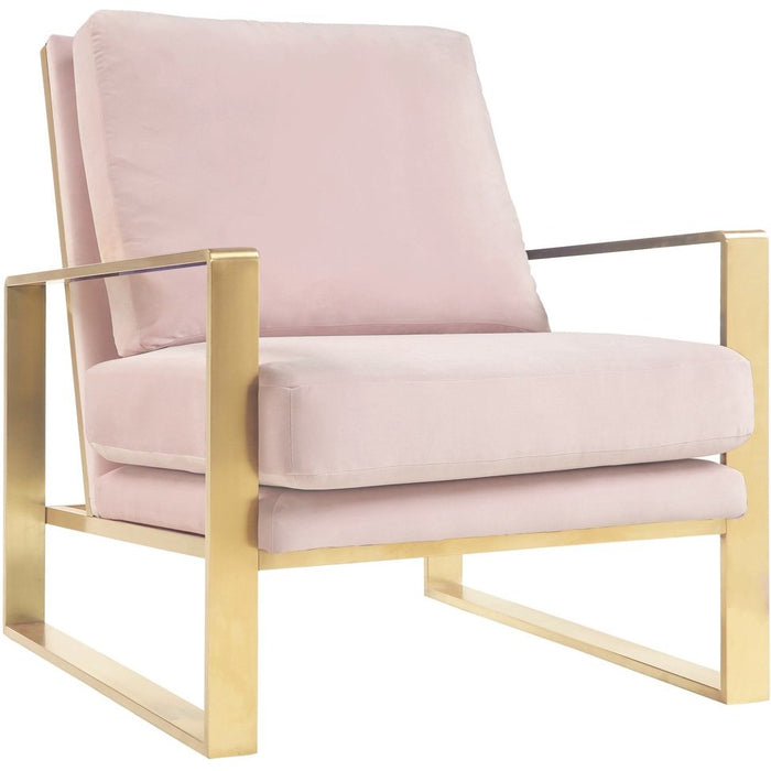 TOV Furniture Modern Mott Blush Velvet Chair - TOV-A213-Minimal & Modern