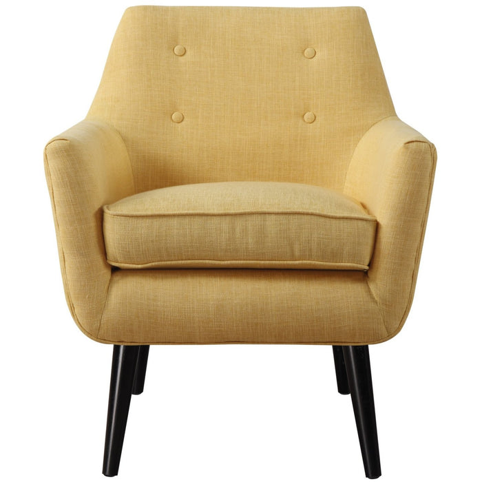 TOV Furniture Modern Clyde Mustard Yellow Linen Chair , Armchair - TOV Furniture, Minimal & Modern - 6