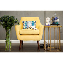TOV Furniture Modern Clyde Mustard Yellow Linen Chair TOV-A38-Y-Minimal & Modern