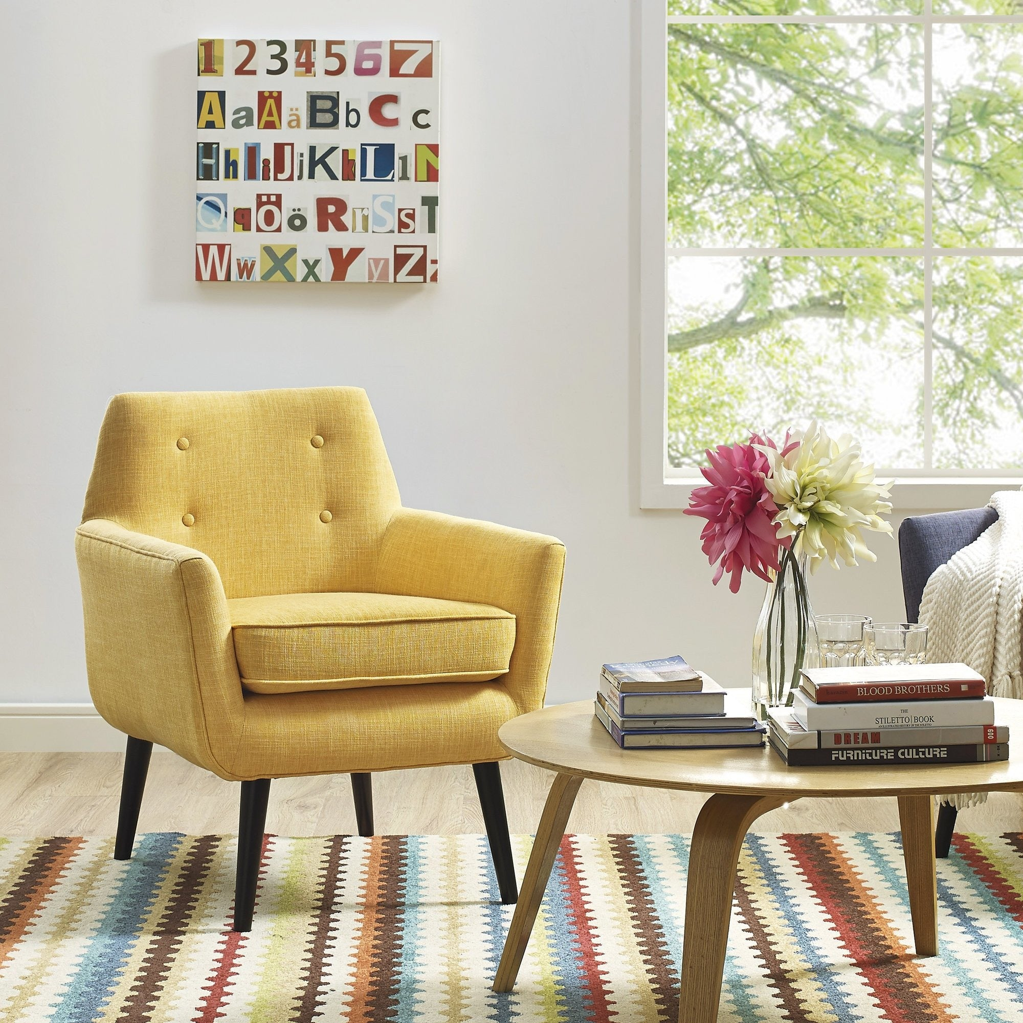 Tov furniture modern clyde mustard yellow linen chair tov a38 y minimal