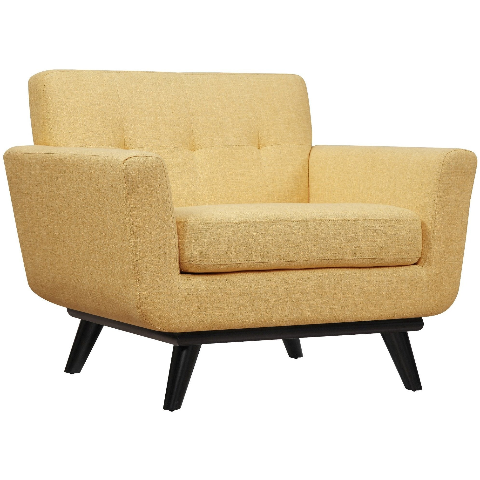 Tov Furniture Modern James Mustard Yellow Linen Chair Tov A55