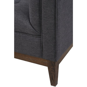 TOV Furniture Modern Gavin Grey Linen Chair TOV-A57-Minimal & Modern