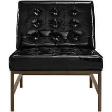 TOV Furniture Modern Jed Black Patent Leather Chair TOV-A65-Minimal & Modern