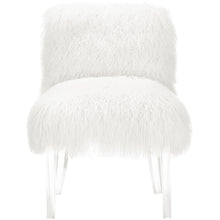 TOV Furniture Modern Sophie White Sheepskin Lucite Chair TOV-A75-Minimal & Modern