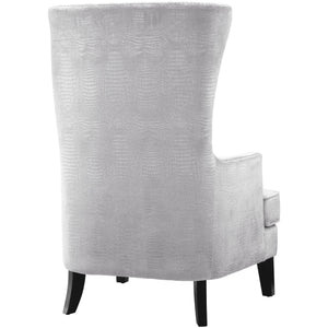 TOV Furniture Modern Bristol Silver Croc Tall Chair TOV-A89-Minimal & Modern