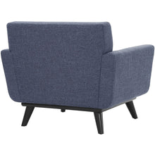 TOV Furniture Modern James Blue Linen Chair TOV-A96-Minimal & Modern