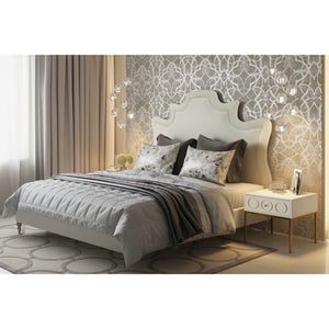 TOV Furniture Modern Serenity Cream Velvet Bed in King - TOV-B104-Minimal & Modern