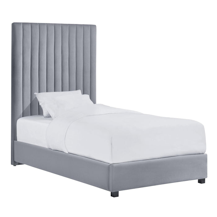 TOV Furniture Modern Arabelle Grey Bed Twin - TOV-B126-Minimal & Modern