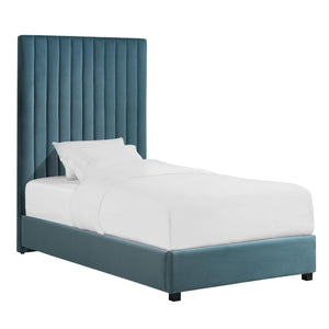 TOV Furniture Modern Arabelle Sea Blue Bed in Twin - TOV-B127-Minimal & Modern