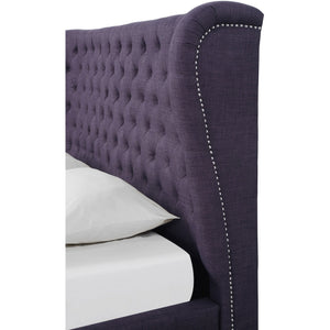 TOV Furniture Modern Finley Plum Linen Bed in King TOV-B13-K-Minimal & Modern