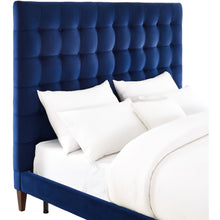 TOV Furniture Modern Eden Navy Velvet Bed in King TOV-B18-Minimal & Modern