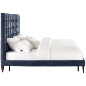 TOV Furniture Modern Eden Grey Velvet Bed in Full TOV-B30-Minimal & Modern