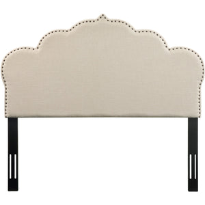 TOV Furniture Modern Noches Queen Headboard in Beige Linen - TOV-B64-Q-Minimal & Modern
