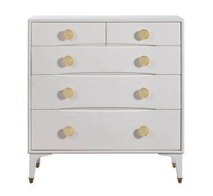 TOV Furniture Modern Divine White Chest - TOV Furniture, Minimal & Modern - 1