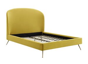 TOV Furniture Modern Vivi Burnt Gold Velvet Bed in Queen TOV-B6346
