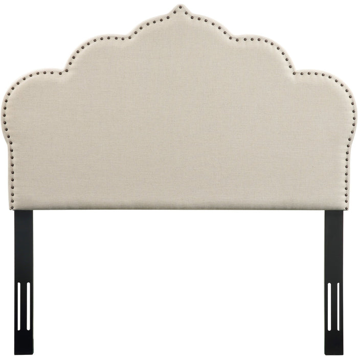 TOV Furniture Modern Noches Twin Headboard in Beige Linen - TOV-B66-T