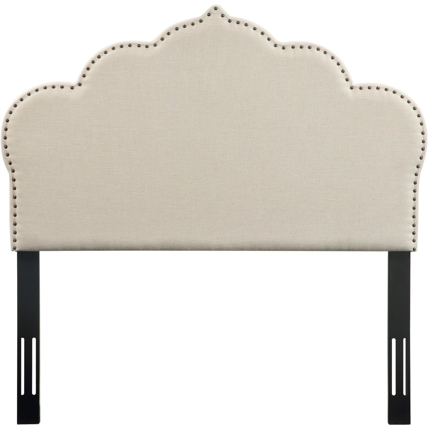 TOV Furniture Modern Noches Twin Headboard in Beige Linen - TOV-B66-T-Minimal & Modern