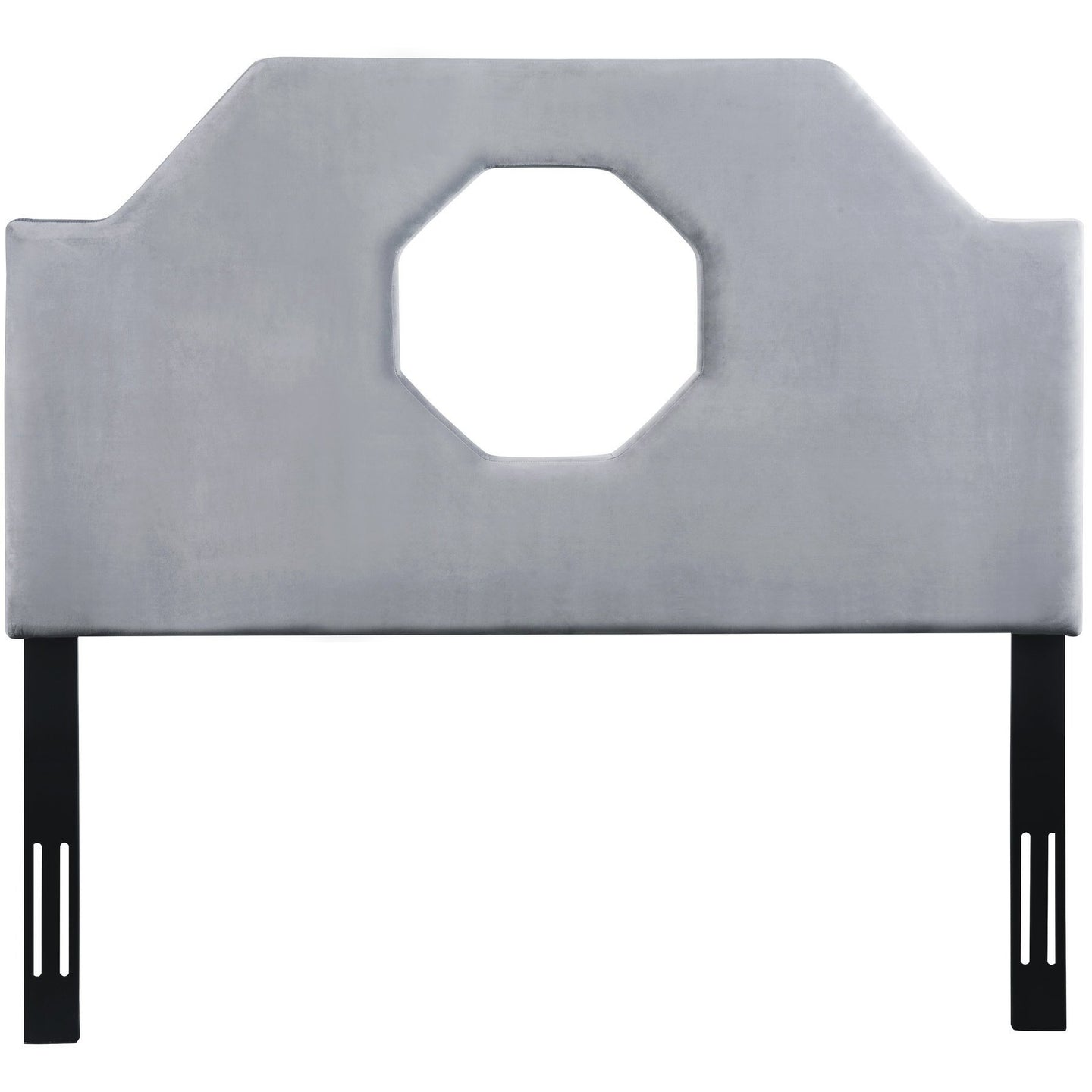 TOV Furniture Modern Noctis Queen Headboard in Grey Velvet - TOV-B67-Q-Minimal & Modern