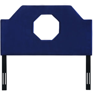 TOV Furniture Modern Noctis Queen Headboard in Navy Velvet - TOV-B71-Q-Minimal & Modern