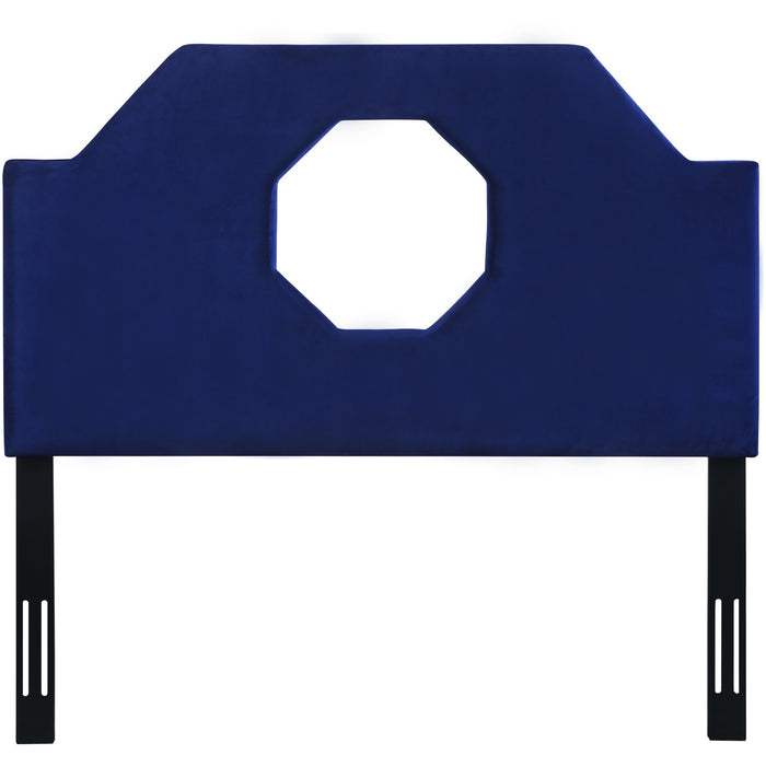TOV Furniture Modern Noctis King Headboard in Navy Velvet - TOV-B70-K-Minimal & Modern