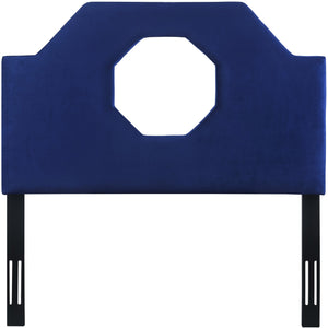 TOV Furniture Modern Noctis Twin Headboard in Navy Velvet - TOV-B73-T-Minimal & Modern
