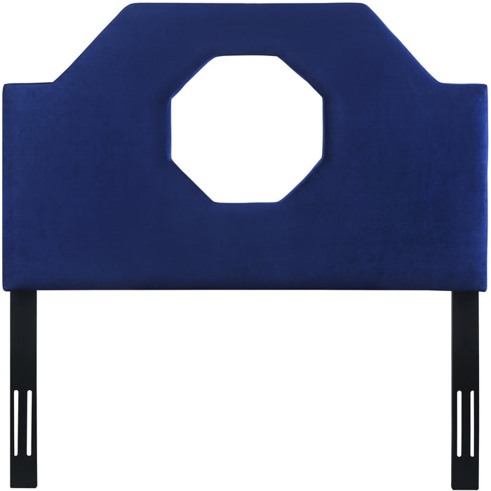 TOV Furniture Modern Noctis Twin Headboard in Navy Velvet - TOV-B73-T - TOV Furniture, Minimal & Modern - 1