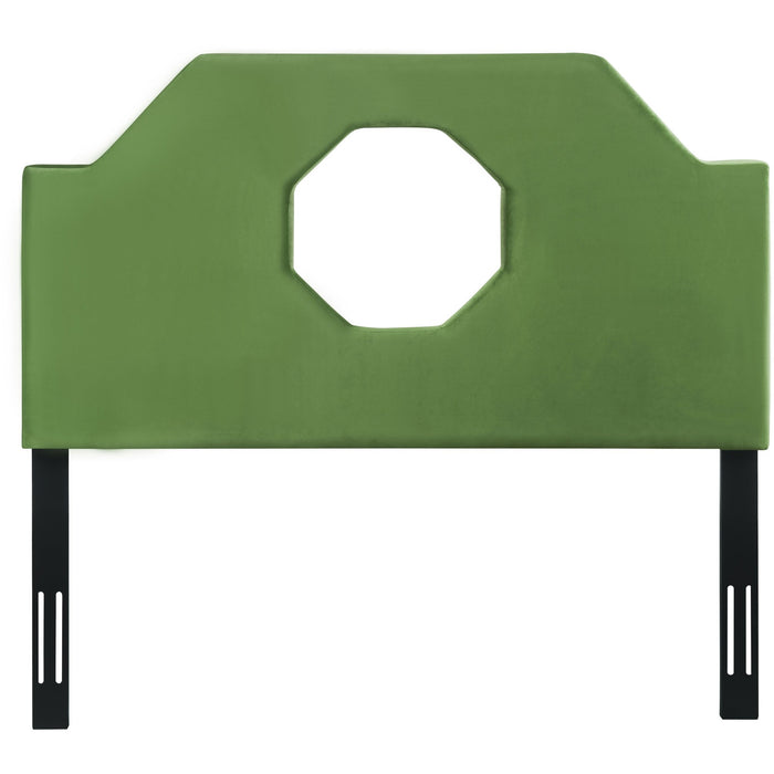 TOV Furniture Modern Noctis Queen Headboard in Green Velvet - TOV-B78-Q-Minimal & Modern