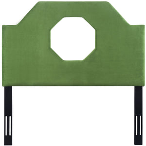 TOV Furniture Modern Noctis Twin Headboard in Green Velvet - TOV-B80-T-Minimal & Modern