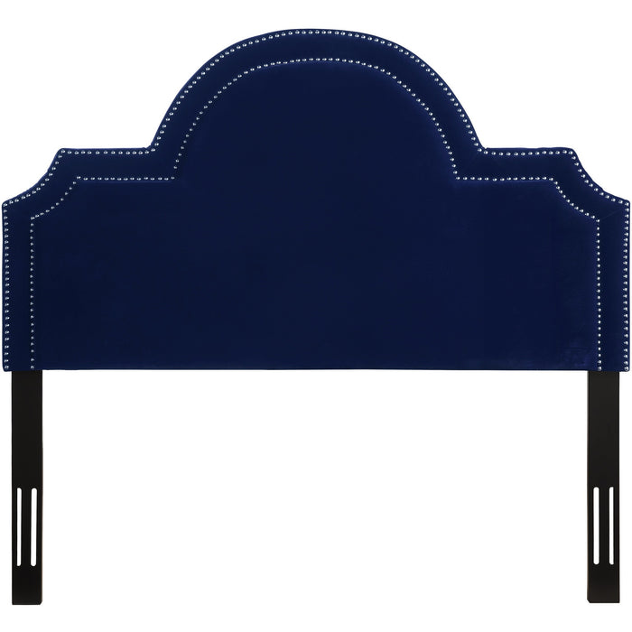 TOV Furniture Modern Laylah Queen Headboard in Pebbled Velvet - TOV-B86-Q-Minimal & Modern