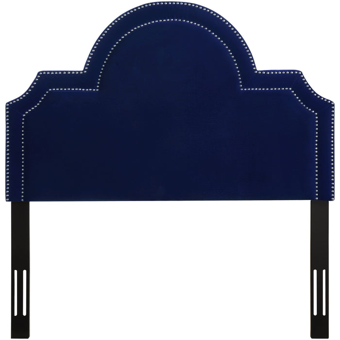 TOV Furniture Modern Laylah Full Headboard in Pebbled Velvet - TOV-B87-F-Minimal & Modern