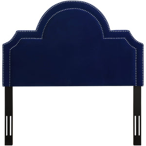 TOV Furniture Modern Laylah Twin Headboard in Pebbled Velvet - TOV-B88-T-Minimal & Modern