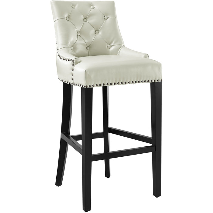 TOV Furniture Modern Uptown Cream Leather Barstool TOV-BS18-Minimal & Modern