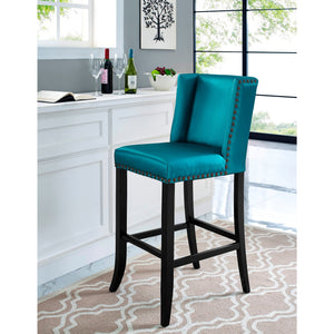 TOV Furniture Modern Denver Blue Counter Stool TOV-BS12-Minimal & Modern