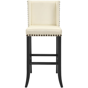 TOV Furniture Modern Denver Cream Counter Stool TOV-BS14-Minimal & Modern