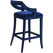 TOV Furniture Modern Tiffany Navy Velvet Counter Stool - TOV-BS22-Minimal & Modern