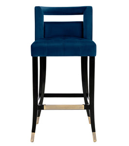 TOV Furniture Modern Hart Navy Velvet Counter Stool - TOV-BS24-Minimal & Modern