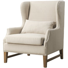 TOV Furniture Modern Devon Beige Linen Wing Chair TOV-C36-Minimal & Modern
