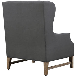 TOV Furniture Modern Devon Grey Linen Wing Chair TOV-C44-Minimal & Modern