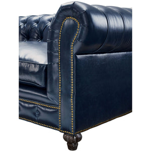 TOV Furniture Modern Durango Rustic Blue Leather Club Chair TOV-C45-Minimal & Modern