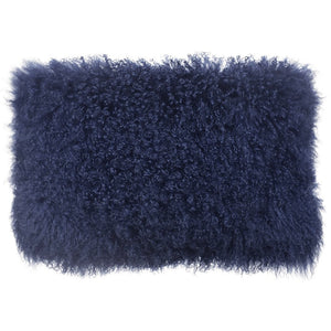 TOV Furniture Modern Tibetan Sheep Long Blue Pillow - TOV-C5703-Minimal & Modern