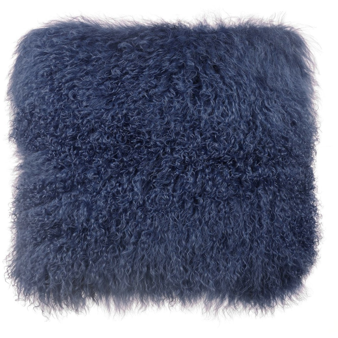TOV Furniture Modern Tibetan Sheep Large Blue Pillow - TOV-C5704-Minimal & Modern