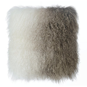 TOV Furniture Modern Tibetan Sheep Pillow White to Brown - TOV-C5706-Minimal & Modern