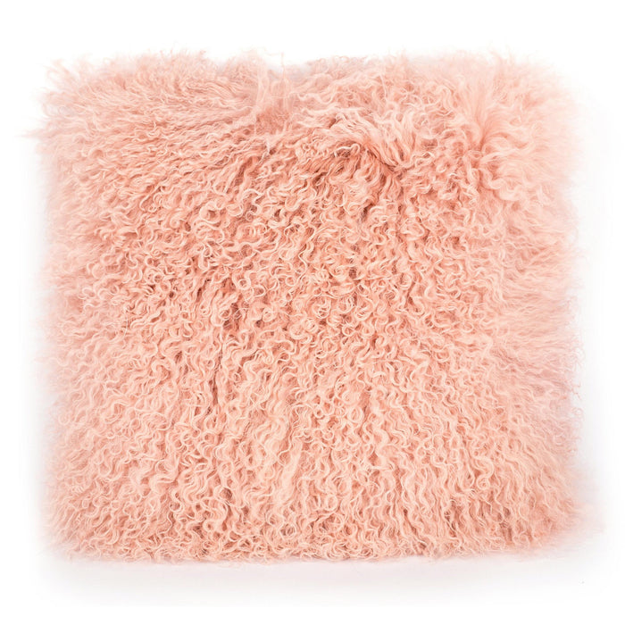 TOV Furniture Modern Tibetan Sheep Blush Pillow - TOV-C5711-Minimal & Modern