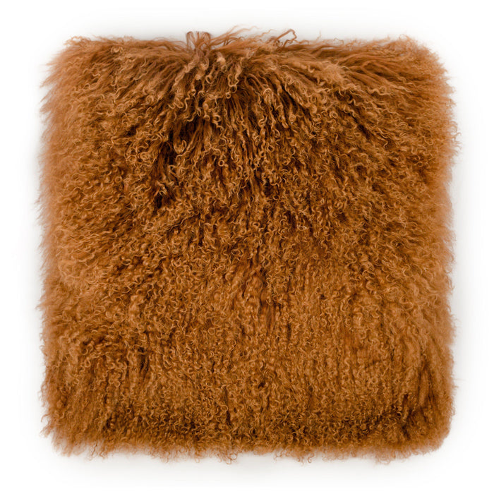 TOV Furniture Modern Tibetan Sheep Copper Large Pillow - TOV-C5718-Minimal & Modern